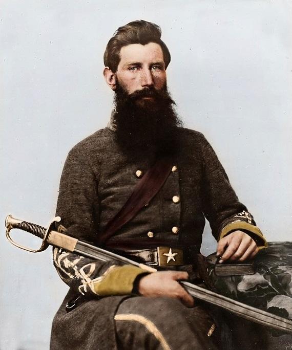 captain george w hackworth 1st virginia cavalry colorized